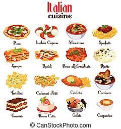 料理, イタリア語, アイコン
