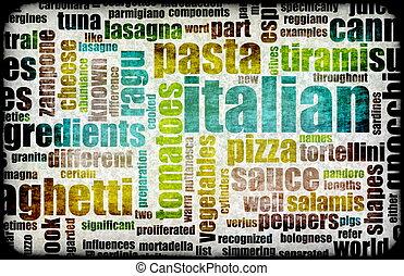 料理, イタリア語
