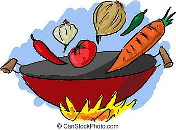 料理, 料理, アジア人
