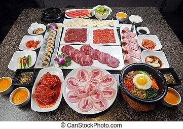 料理, 韓国語