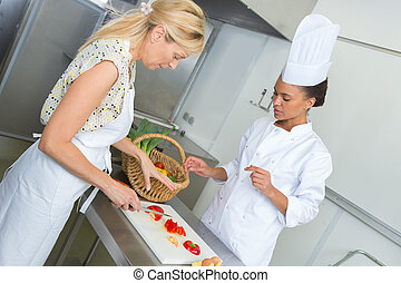 料理, 2, 台所, 女性
