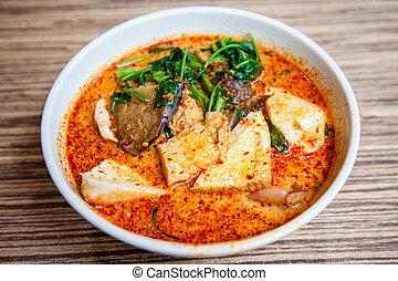 料理, yong, シンガポール, tau, 人気が高い, laksa, foo