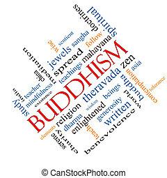 斜め, 仏教, 概念, 単語, 雲