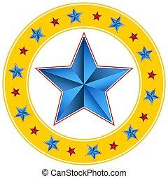 斜め, 円, サーカス, 星, カーニバル