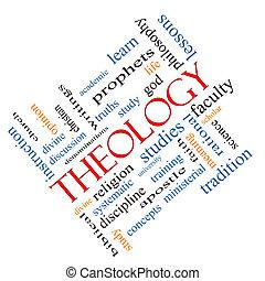 斜め, 概念, 単語, 雲, 神学