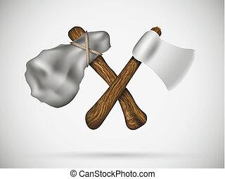斧, 交差点, 2