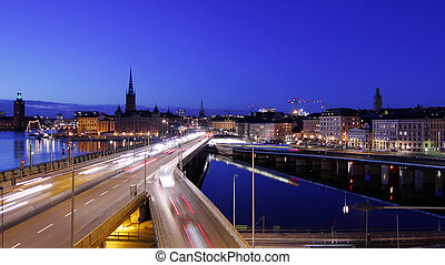 斯德哥爾摩, 城市, 夜間