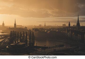 斯德哥爾摩, 黃金般的日落
