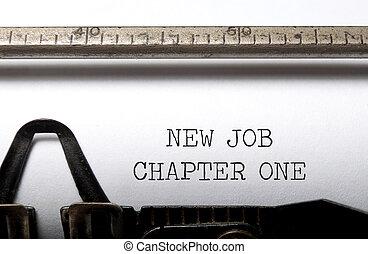 新しい仕事