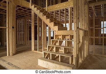 新しい家, 建設, 内部