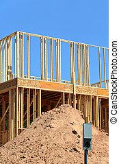 新しい家, 建設