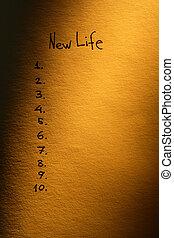新しい生命, 計画
