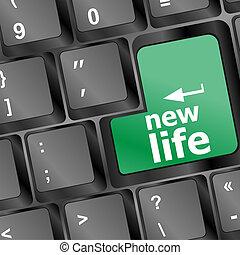 新しい生命, 黒, 言葉, キーボード