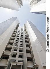 新しい, アパート, シンガポール, 政府