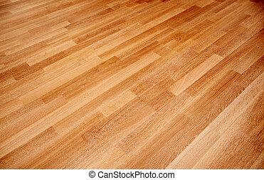 新しい, オーク, 寄せ木張りの床