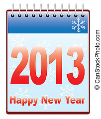 新しい, カレンダー, 2013, 年