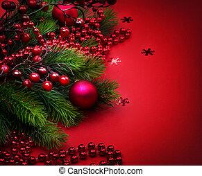新しい, クリスマス, 背景, 年