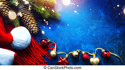 新しい, グリーティングカード, 背景, クリスマス, 芸術, 陽気, 年, 幸せ
