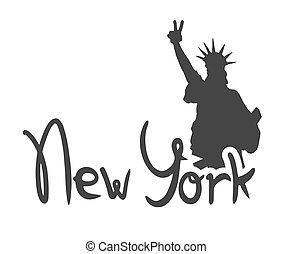 新しい, シンボル, 都市, ヨーク