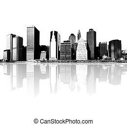 新しい, スカイライン, ヨーク, 都市