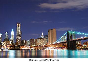 新しい, スカイライン, 都市, マンハッタン, ヨーク