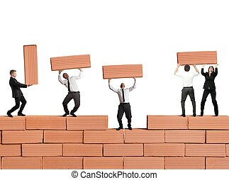 新しい, チームワーク, 建造する, ビジネス