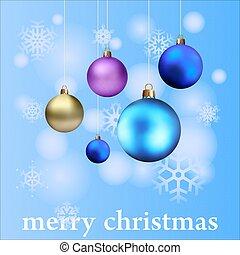新しい, デザイン, クリスマスカード, 年