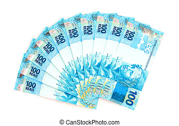 新しい, ブラジル人, お金