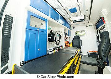 新しい, ブランド, 病院, 救急車