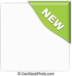 新しい, ベクトル, 緑, コーナー