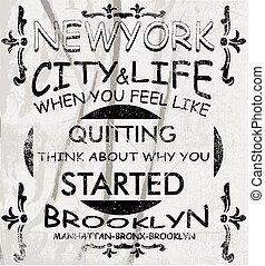 新しい, ベクトル, 芸術, ヨーク, 都市