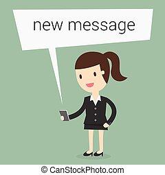 新しい, メッセージ