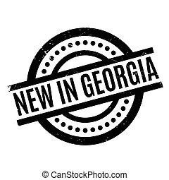 新しい, 中に, ジョージア, ゴム製 スタンプ