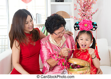 新しい, 中国語, 贈り物, 年