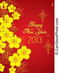 新しい, 中国語, 2013, カード, 年
