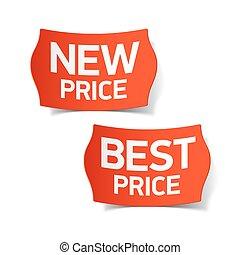 新しい, 価格, ラベル, 最も良く