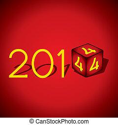 新しい, 創造的, 年, 2014, 幸せ