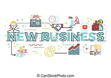 新しい, 単語, ビジネス 実例