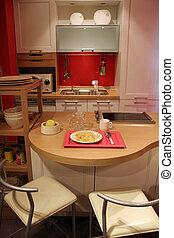 新しい, 台所, -, 家の 内部