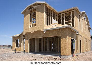 新しい 家, 建設 中