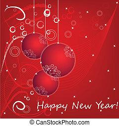 新しい, 幸せ, 2013, カード, 年