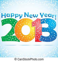 新しい, 幸せ, 2013, 背景, 年