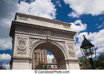 新しい, 広場, ワシントン, ヨーク, アーチ
