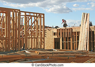 新しい, 建設, 家