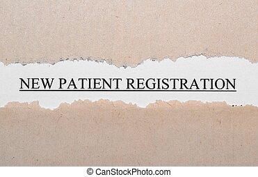 新しい, 患者, 登録