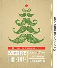 新しい, 情報通, クリスマス, 陽気, 年