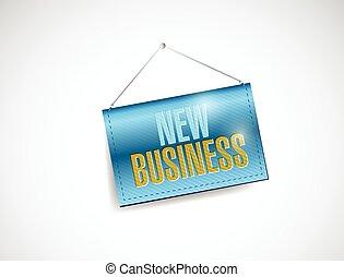 新しい, 掛かること, ビジネス 実例, 印
