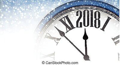 新しい, 旗, 2018, clock., 年