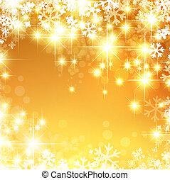 新しい, 明るい, クリスマス, 背景, 年
