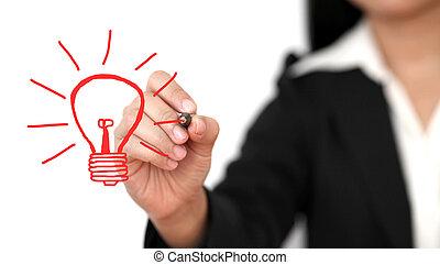 新しい, 概念, 図画, ビジネス考え